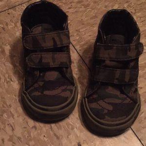 Camouflage Vans size 4 infant